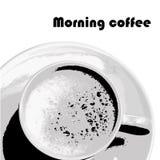 咖啡图象moning的向量 免版税库存照片