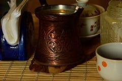 咖啡土耳其人 免版税库存照片