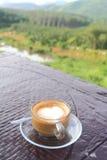 咖啡在庭院里 免版税库存照片