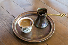 咖啡在波斯尼亚 图库摄影