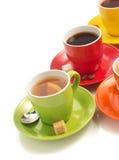 咖啡在白色的 免版税图库摄影