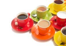 咖啡在白色的 免版税库存照片