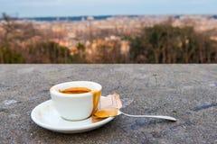 咖啡在罗马 库存照片