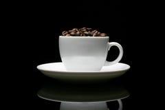 咖啡在黑色的 免版税图库摄影