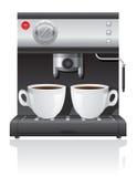 咖啡壶传染媒介例证 免版税库存图片