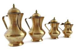 咖啡壶铜被塑造的老牌 库存图片
