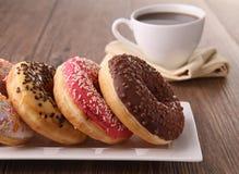 咖啡多福饼 免版税图库摄影