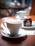 咖啡夜间 免版税库存照片