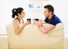 咖啡夫妇喝 免版税库存图片