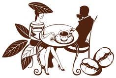 咖啡夫妇超现实的茶 库存照片