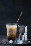 咖啡奶油冰 图库摄影