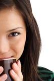 咖啡妇女 免版税库存照片