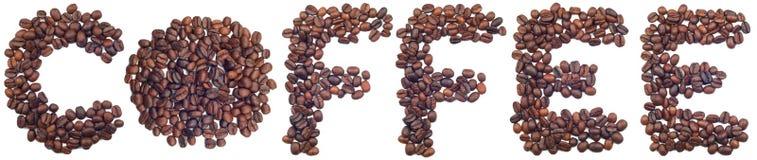 咖啡字 免版税库存照片