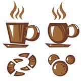 咖啡小的茶茶壶白色 图库摄影