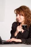 咖啡工作 免版税库存图片