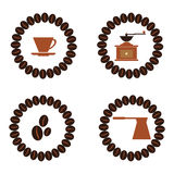 咖啡平的汇集饮料装饰象导航illustratio 库存照片