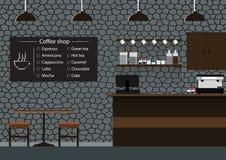 咖啡店传染媒介例证 库存照片