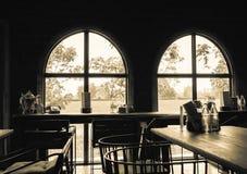 咖啡店内部 免版税库存图片