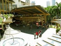 咖啡店和餐馆,绿色地带3,马卡蒂,菲律宾 免版税库存照片