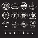 咖啡店商标汇集 免版税库存图片