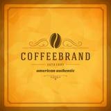 咖啡店商标设计元素 库存例证