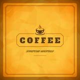 咖啡店商标设计元素 向量例证