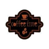 咖啡店商标设计模板 免版税库存图片