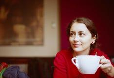 咖啡店妇女 库存照片