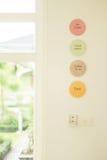 咖啡店标签框架陶瓷 免版税库存照片