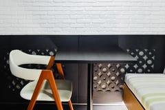 咖啡店的内部和装饰,咖啡馆 图库摄影