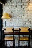 咖啡店的内部和装饰,咖啡馆 免版税库存图片