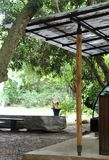 咖啡店的屋顶结构 库存照片