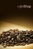 咖啡店菜单或传单设计 免版税库存照片