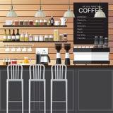 咖啡店设计顶楼 库存照片