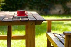 咖啡庭院 库存照片