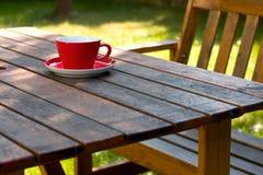 咖啡庭院 免版税库存照片
