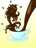 咖啡形状 库存图片