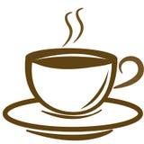 咖啡徽标向量 免版税库存图片