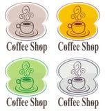 咖啡徽标界面 免版税库存照片