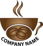 咖啡徽标界面 库存图片