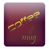 咖啡徽标空间 图库摄影