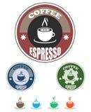 咖啡徽标茶 向量例证