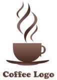 咖啡徽标 库存图片