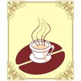 咖啡徽标 皇族释放例证