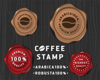 咖啡徽章横幅设计 皇族释放例证