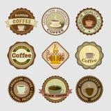 咖啡徽章 免版税库存照片