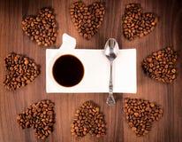 咖啡心脏 图库摄影