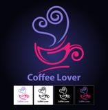 咖啡恋人标志 库存图片
