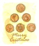 从咖啡恋人的圣诞快乐 图库摄影