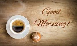 咖啡愉快的早晨 免版税图库摄影